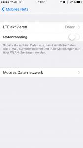 Roaming iPhone