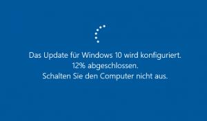 Windows 10 Update Bildschirm